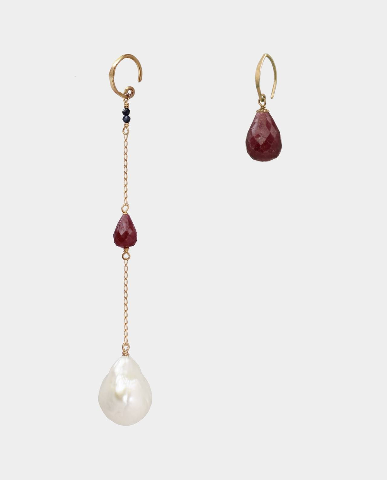 Rubies and pearls in original Danish design with personality. Popular pieces of jewelry for parties and everyday life