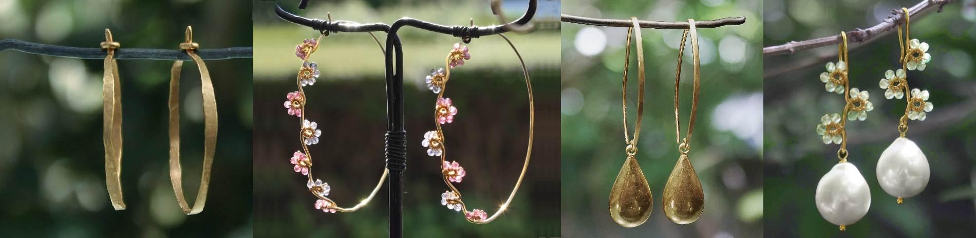 forskellige øreringe i natur