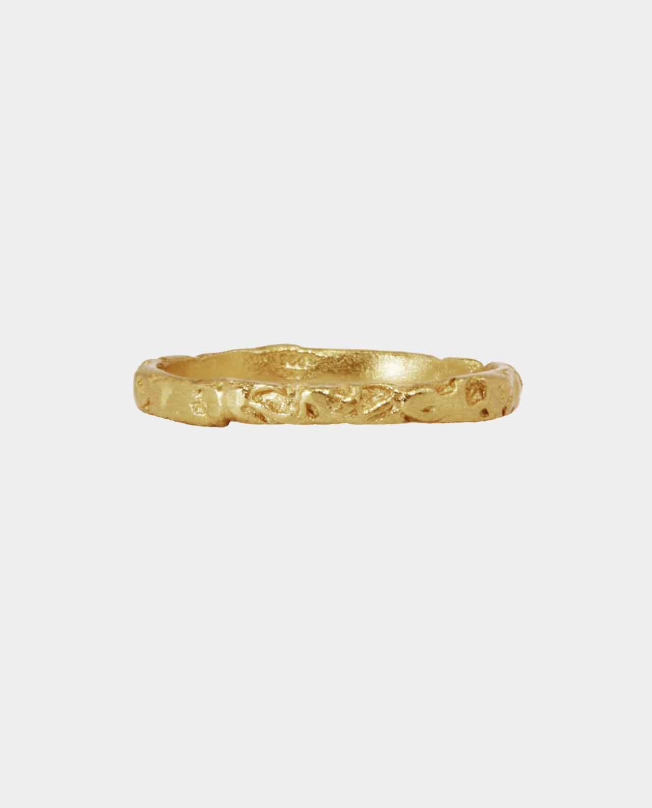 An original finger ring designed like antiquity jewelry with beautiful ornamentations in an original design - a piece of jewelry for independent women