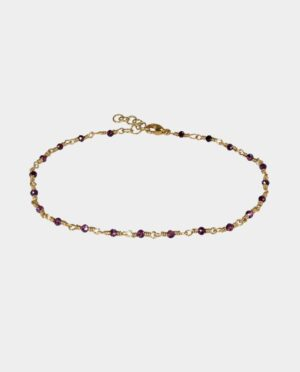 Bracelet with rhodolite garnets - an obvious gift for your friend or sister from the jewelry store in the inner city