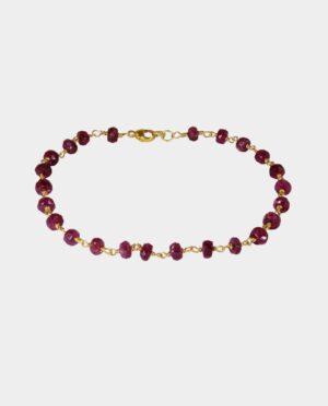 The bracelet contains lots of rubies in manifold red shades and can be purchased in Copenhagen inner city