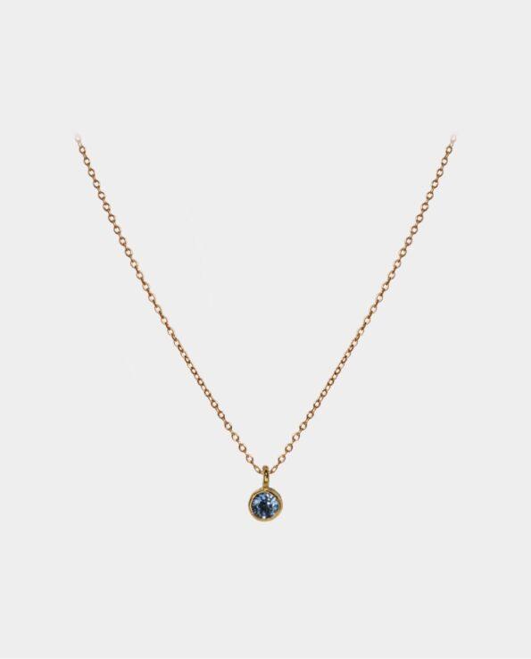 Halskæde med betagende blå topaz - en udsøgt gave til din venind fra smykkeudsalg i Kbh C