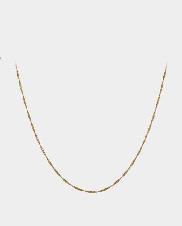 Snoet guldkæde til veninden eller til dig selv. Smykket kan købes i smykkebutik på Kultorvet i København K
